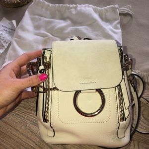 CHLOE MINI FAYE LEATHER AND SUEDE BACKPACK